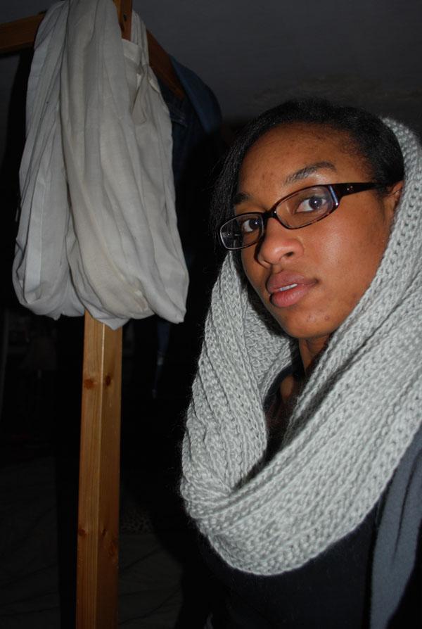 crochet cowl scarf  hood